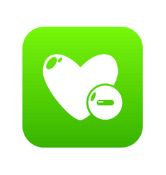 dislike icon green vector image