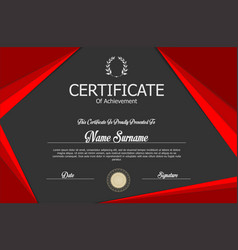 Elegant red and gray certificate template vector