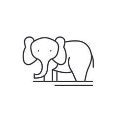 Elephant line icon concept elephant linear vector