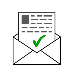 Envelope with a letter of good news a letter vector