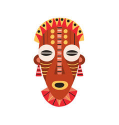 Ethnic african tribal mask with huge eyes and open vector
