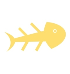 Fish skull isolated icon design vector