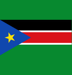 Flag in colors of south sudan image vector