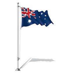 Flag Pole Australia vector image