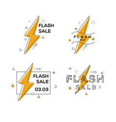 flash sale abstract banner badge set vector image