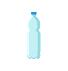 Flat icon of plastic bottle for mineral vector