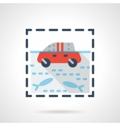 Flood flat color design icon vector