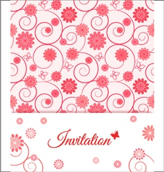 Floral card design for greeting card invitation vector image
