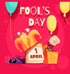 fools day square composition vector image