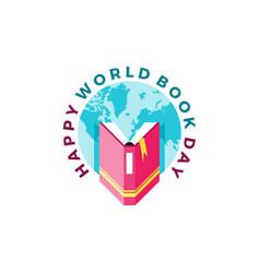 Happy world book day vector