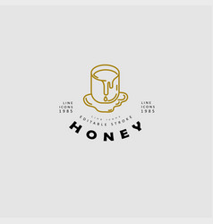 icon and logo honey editable outline vector image