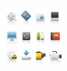 Icon set multimedia vector