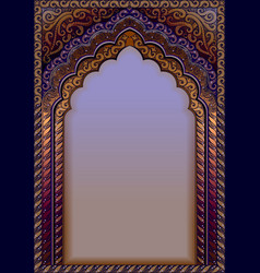 Indian ornamental arch a4 format vector