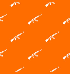 Kalashnikov machine pattern seamless vector