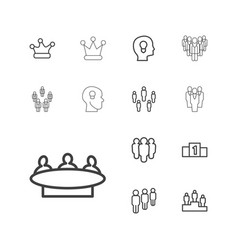 Leader icons vector
