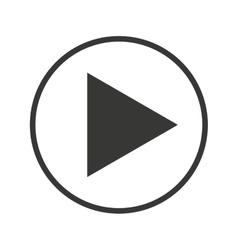media player button play icon royalty free vector image rh vectorstock com play button vector illustrator play button vector graphic