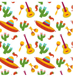 mexican pattern design vector image