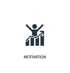 motivation icon simple element vector image