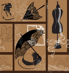 Nouveau fashion background vector image