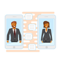 online business chatting vector image