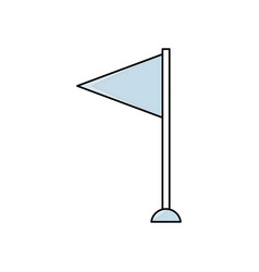 Pennant flag symbol vector