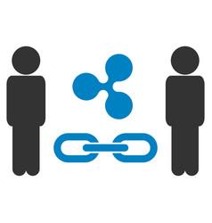 People ripple blockchain flat icon vector