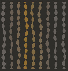 seamless pattern with strings of beads vector image vector image
