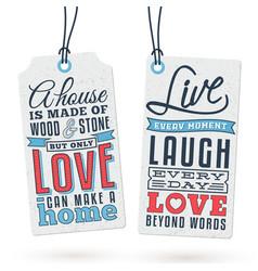Set of hang tags vector