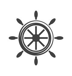 Ship steering wheelhelm Black icon logo element vector