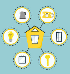 smart house modern house management system flat vector image