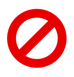 Stop sign no entry symbol vector