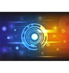Technology background colorful vector