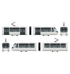 tram train mock-up vector image
