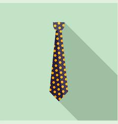 Tuxedo tie icon flat style vector