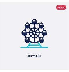 Two color big wheel icon from business concept vector
