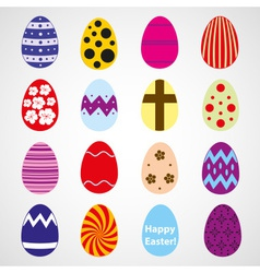 Various color Easter eggs design collection eps10 vector