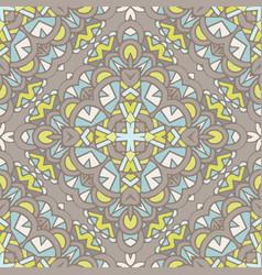 vintage floral seamless pattern tile vector image