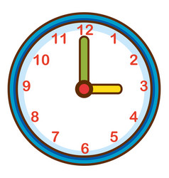 Wall clock on white background vector