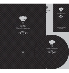 design elements for a restaurant vector image