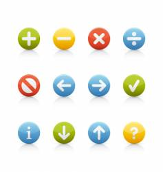 Icon set navigation buttons vector