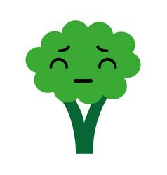 kawaii broccoli cartoon vector image