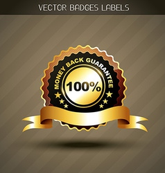 money back guarantee label vector image vector image
