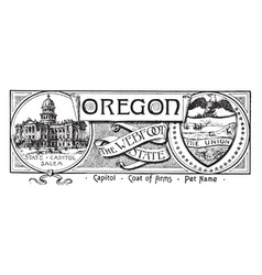 The state banner of oregon the webfoot state vector