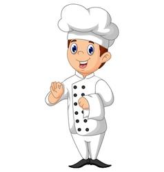 cute chef cartoon vector image vector image