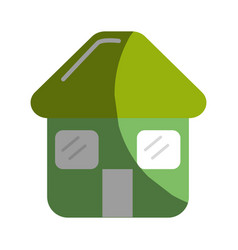 green house with door roof and windows icon vector image