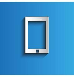Icon smartphone background vector image
