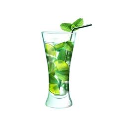 Mojito cocktail realistic vector image vector image