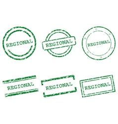 Regional stamps vector image vector image