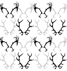 Seamless black and white pattern with silhouette vector