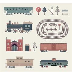 train set vector image vector image